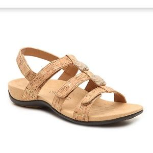 Vionic by Orthaheel Amber Gold Cork Sandals